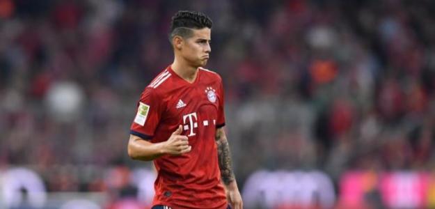 James en un partido con el Bayern / C1