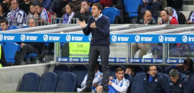 Asier Garitano, durante un partido (Real Sociedad)