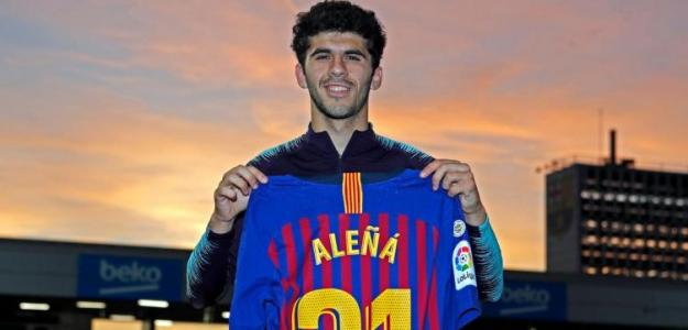 Aleña posa con la camiseta del Barça / Barça