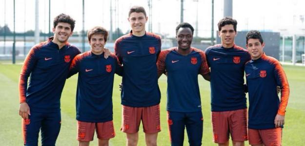 Aleñá y Puig, en la izquierda de la imagen / FC Barcelona.