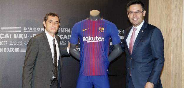 Valverde y Bartomeu, el día de la llegada del entrenador (FC Barcelona)