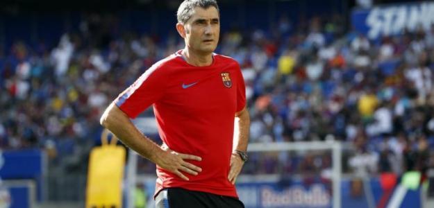 Ernesto Valverde, en un entrenamiento / fcbarcelona.es