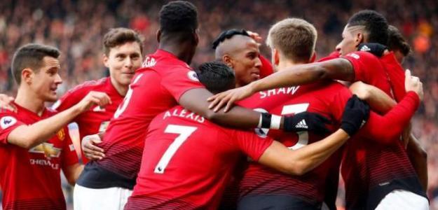 Jugadores del United celebran un gol / Youtube