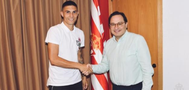 Djurdjevic, el día de su fichaje (Sporting de Gijón)