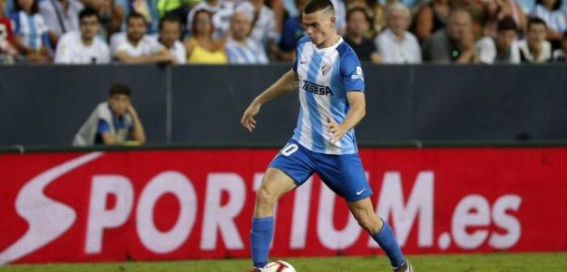 Harper, durante un partido (Málaga CF)