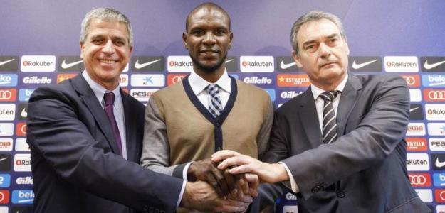 Mestre, Abidal y Segura / FC Barcelona.