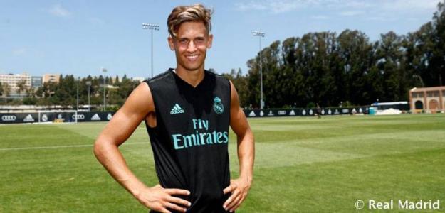 Marcos Llorente en un entrenamiento / Real Madrid