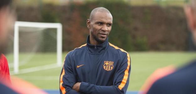 Abidal, durante un entrenamiento del Barcelona / twitter