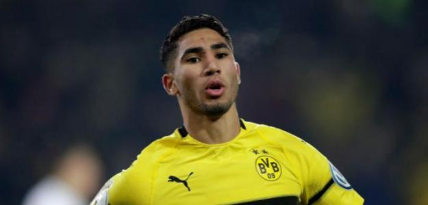 Achraf en un partido con el Dortmund / Youtube