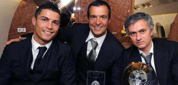 Mendes junto a CR7 y Mourinho / Real Madrid