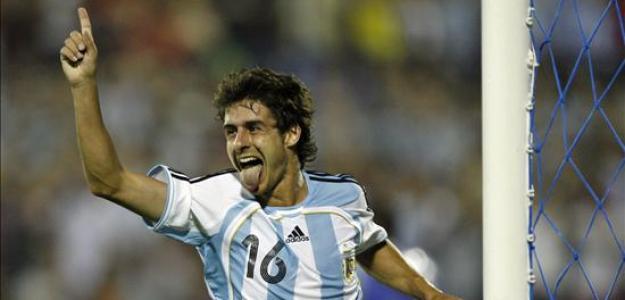 Aimar en un partido con la Selección. / pabloaimarweb.blogspot.com