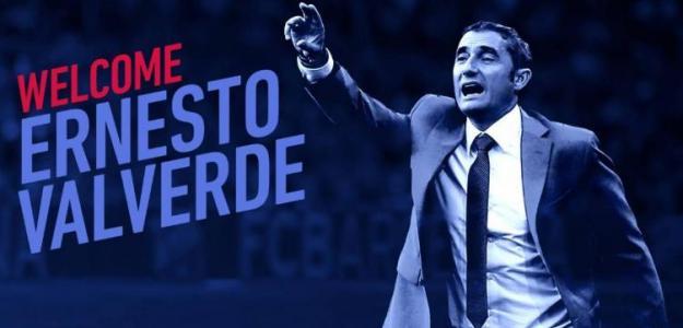 El cartel con el que el Barça anunció el fichaje de Valverde (FC Barcelona)