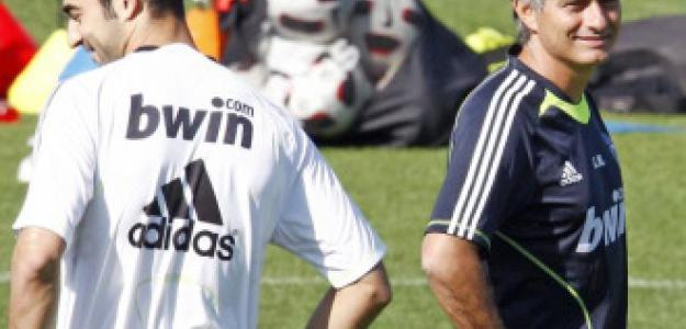 Raúl Albiol y Jose Mourinho