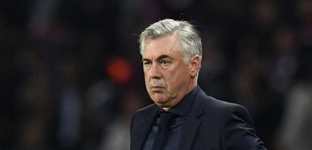 Ancelotti, observando un partido / twitter