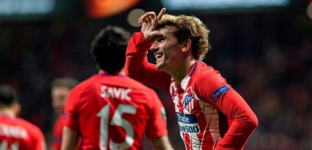 Griezmann celebra un gol / Atlético