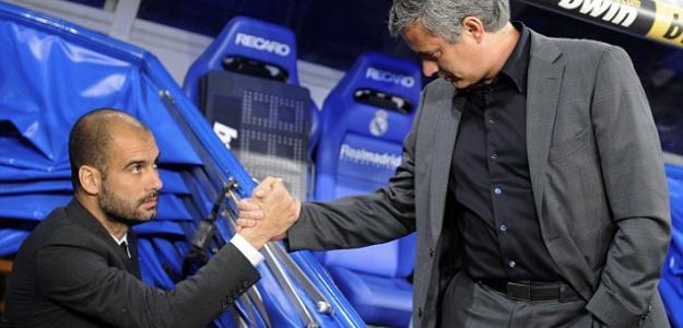 Guardiola y Mourinho. Foto: Reuters.