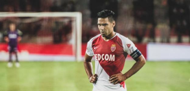 Falcao, durante un partido (AS Mónaco)