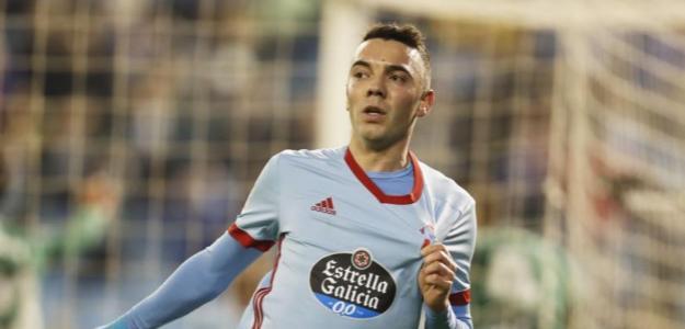 Iago Aspas, celebrando un gol / twitter