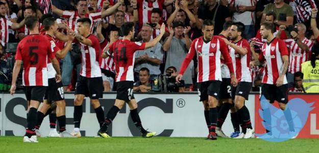 El Athletic, celebrando un gol en 2018 / twitter