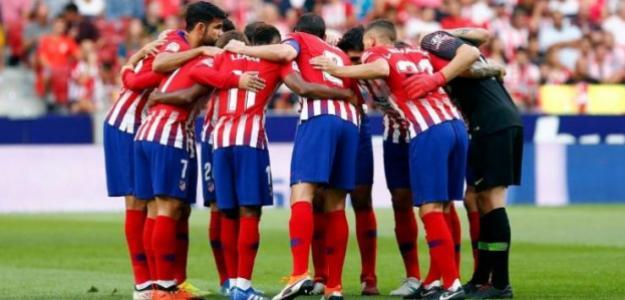 Atlético, en partido de 2019 / Twitter