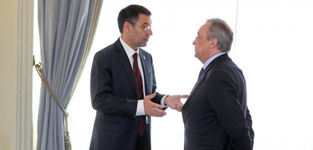Bartomeu y Florentino en una previa de un Clásico / Barça