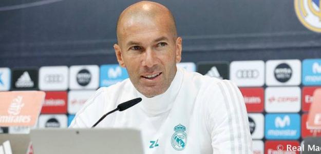 Zidane en rueda de prensa / Madrid