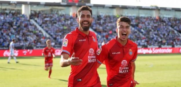 Borja Iglesias celebra un gol / Espanyol