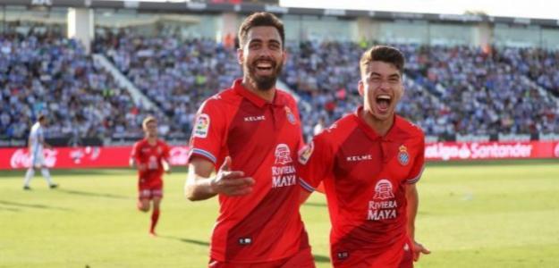 Borja Iglesias celebra un gol / Youtube