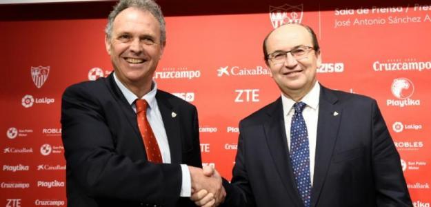 Caparrós y Castro, el día del regreso del técnico andaluz (Sevilla FC)