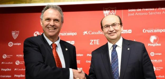 Caparrós junto al presidente del Sevilla / Sevilla
