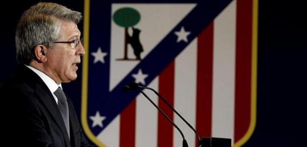 Enrique Cerezo en rueda de prensa / Atlético