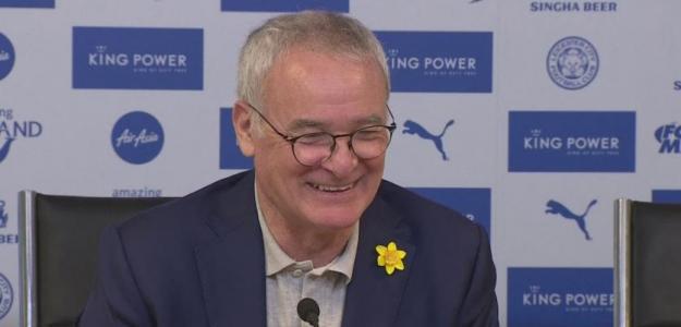 Claudio Ranieri en rueda de prensa. Foto: Youtube.com