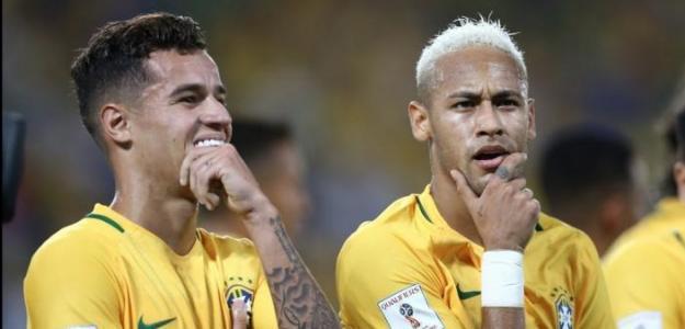 Philippe Coutinho y Neymar / Youtube.