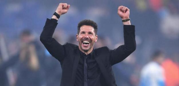 Simeone celebrando en el campo. / mundod.lavoz.com.ar