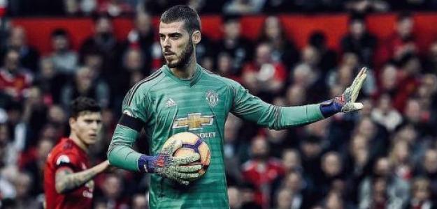 De Gea, durante un partido (Manchester United)