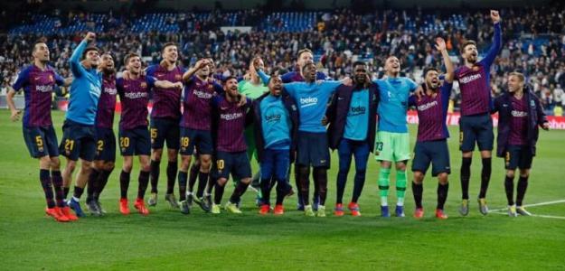 Los jugadores del Barça, el día del Bernabéu en Liga (FC Barcelona)