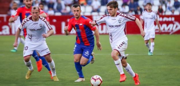 Febas, durante un partido (Albacete)
