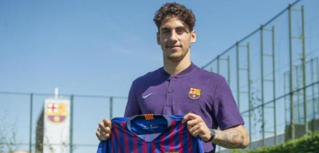 Ludovit Reis, con el Barcelona / Twitter