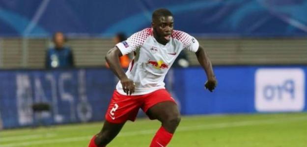 Dayot Upamecano en un partido con el Leipzig. Foto: Youtube.com
