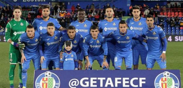 Jugadores del Getafe, antes de un partido / Getafe CF.