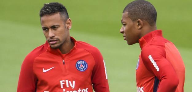 Neymar y Mbappé / SkySports.