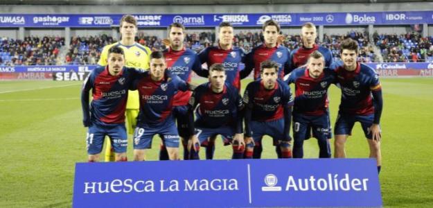 Werner, junto a sus compañeros (SD Huesca)