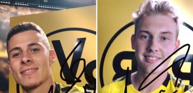 Thorgan Hazard y Julian Brandt fichan por el Borussia Dortmund / Facebook.