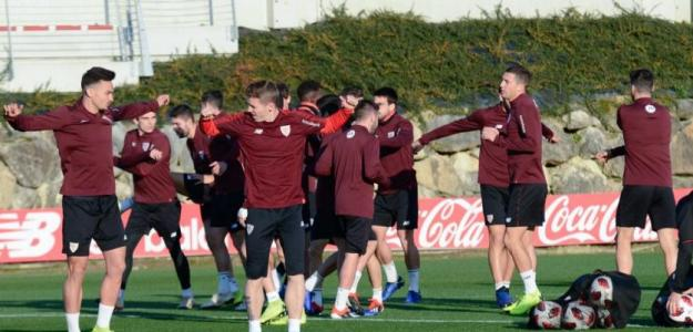 Jugadores en un entrenamiento / Athletic Club