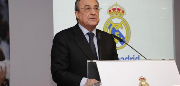Florentino Pérez en rueda de prensa / Real Madrid