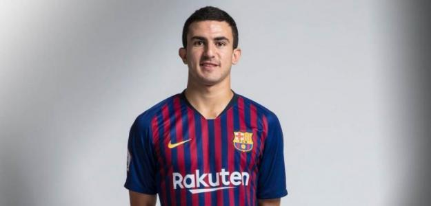Mateu Morey 'Mate', con la camiseta del Barça / FC Barcelona.