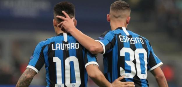 Lautaro Martínez y Sebastiano  Esposito. FOTO: INTER DE MILÁN
