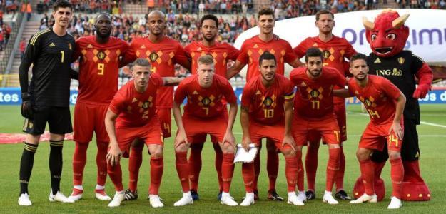 La selección belga antes de un partido. / elespañol.com