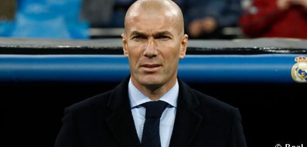 Zinedine Zidane, en el Santiago Bernabéu / Real Madrid.