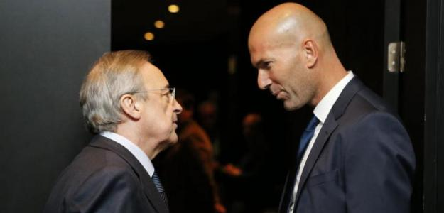 Zidane y Florentino. Foto: Twitter